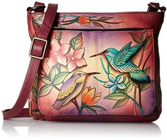 Anuschka Handpainted Leather Shoulder Bag Birds in Paradise Wine $158.10 thestylecure.com