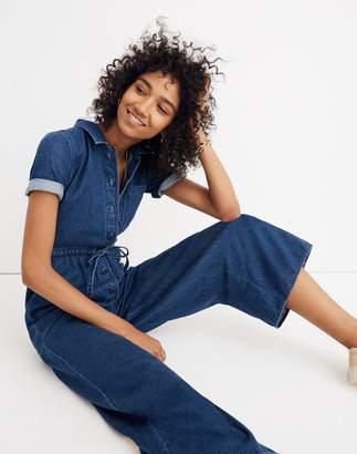Madewell Denim Wide-Leg Utility Jumpsuit