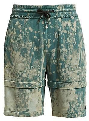 Madison Supply Men's Washed Print Denim Shorts