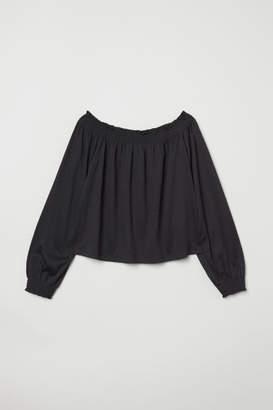 H&M Off-the-shoulder Blouse - Black