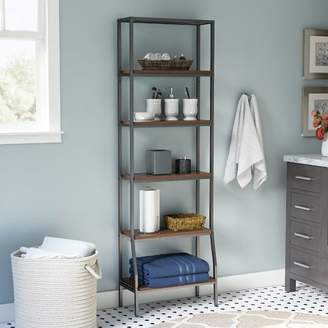 """Co Darby Home Andes 6-Tier Etagere 21.75"""" W x 67.5"""" H Bathroom Shelf"""