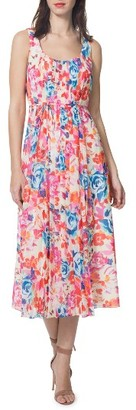 Women's Donna Morgan Floral Midi Dress $128 thestylecure.com