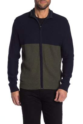 Calvin Klein Colorblock Knit Full Zip Sweater