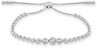 Neiman Marcus Diamonds 14k White Gold Adjustable Diamond Bracelet, 1.25tcw