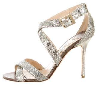 Jimmy Choo Metallic Multi-Strap Sandals