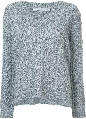 Vince v-neck cable knit jumper