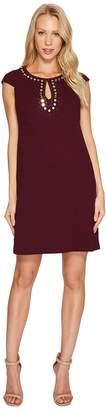 Jessica Simpson Short Sleeve Dress w/ Keyhole Neck Women's Dress