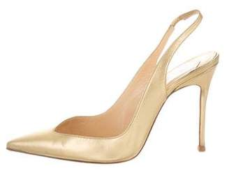Christian Louboutin Pointed Toe Leather Pumps