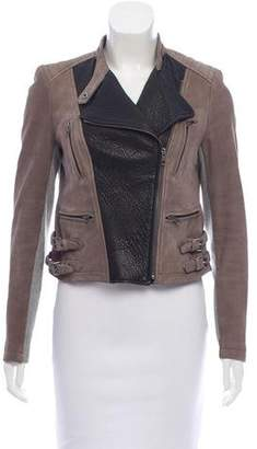 Yigal Azrouel Suede Leather Moto Jacket