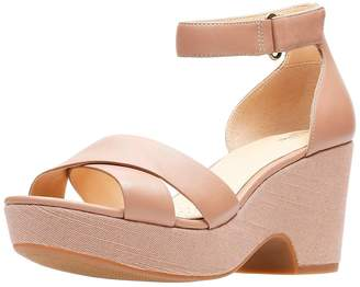 Clarks Maritsa Ruth Low Wedge Sandal - Beige