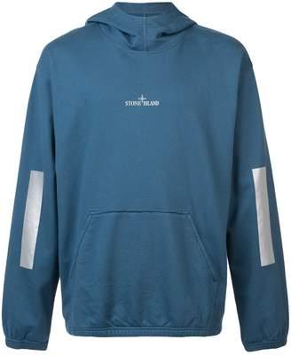 Stone Island contrast logo hoodie