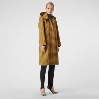 Burberry Detachable Hood Check Cotton Car Coat