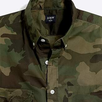 J.Crew Mercantile Slim-fit flex washed shirt in camo print