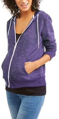 Faded Glory Maternity Zip Up Hooded Sweatshirt