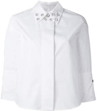 MM6 MAISON MARGIELA three-quarters sleeve studded shirt