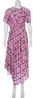 Preen Line Floral Print Asymmetrical Dress