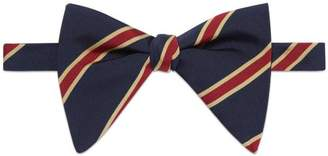 Gucci Striped silk cotton bow tie