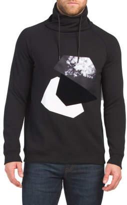 Cowl Neck Fleece Sweatshirt