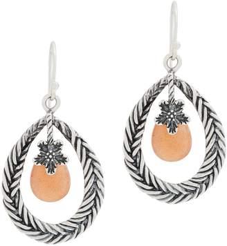 Or Paz Sterling Pear Shaped Gemstone Dangle Earrings
