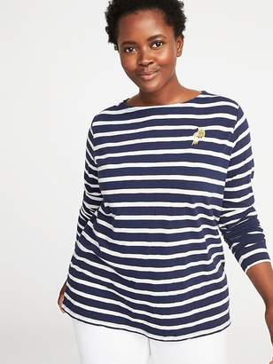 Old Navy Plus-Size Graphic Mariner-Stripe Tee