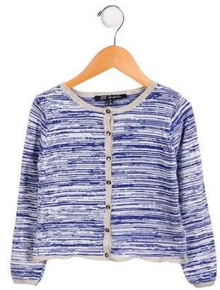 Lili Gaufrette Girls' Long Sleeve Button-Up Cardigan