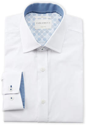 English Laundry Con.Struct Solid Slim Fit Dress Shirt