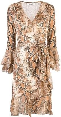Diane von Furstenberg Elowen snakeskin-print wrap dress