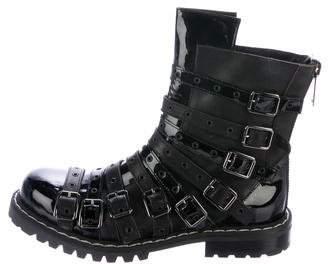 Gareth Pugh Leather Multistrap Boots
