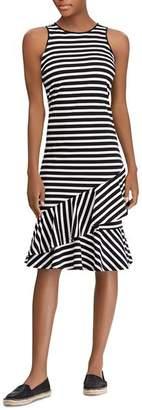 Ralph Lauren Sleeveless Striped Cotton Dress
