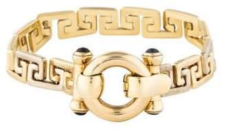14K Sapphire Greek Key Bracelet