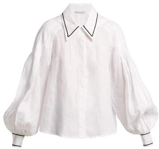 Emilia Wickstead Chrissy Linen Shirt - Womens - White