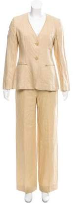Max Mara Tailored Linen Pantsuit