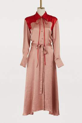 Nina Ricci Bicolor satin dress