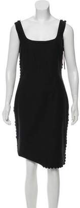 Lanvin Sleeveless Knee-Length Sheath Dress w/ Tags Black Sleeveless Knee-Length Sheath Dress w/ Tags
