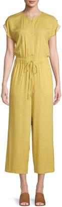 Jones New York Short Roll-Sleeve Jumpsuit