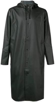 Stutterheim long hooded rain jacket