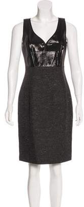 Narciso Rodriguez Silk Knit-Accented Dress