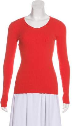 Cédric Charlier Long Sleeve Knit Top