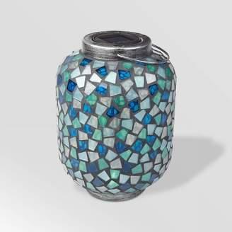 "Smart Solar 10"" LED Mosaic Solar Outdoor Lantern Blue"
