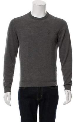 Gucci Embroirdered Logo Crew Neck Sweater