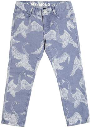 Molo Swans Print Ultra Stretch Denim Jeans
