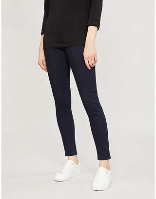 The White Company Chester cropped cotton-blend denim skinny jeans