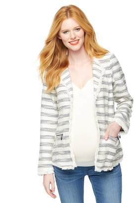 Willow & Clay Willow&Clay Tweed Maternity Blazer