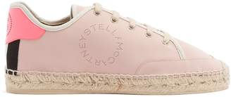 Stella McCartney Woven-rope espadrille low-top trainers
