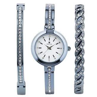 Croton Women's 'Bracelet Set' Quartz Brass Watch