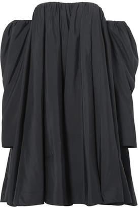 Calvin Klein Off-the-shoulder Ruffled Shell Dress - Black