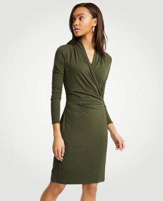 Ann Taylor Faux Wrap Knit Dress