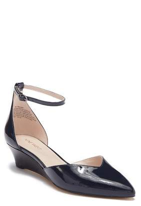 Nine West Evenhim Leather Pointed Toe Wedge Pump