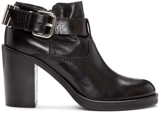 McQ Alexander Mcqueen Black Wick Bullet Ankle Boots $630 thestylecure.com