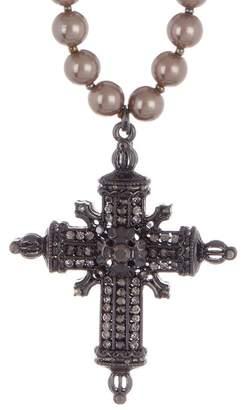 Black Diamond ACCESSORIES Glass Pearl Cross Pendant